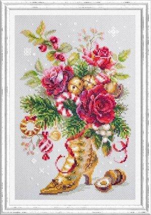 Набор для вышивания Рождественский сюрприз 17*27 см