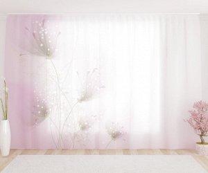 Фототюль Нежные фиолетовые цветы
