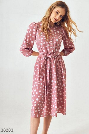 Женственное платье-миди с принтом