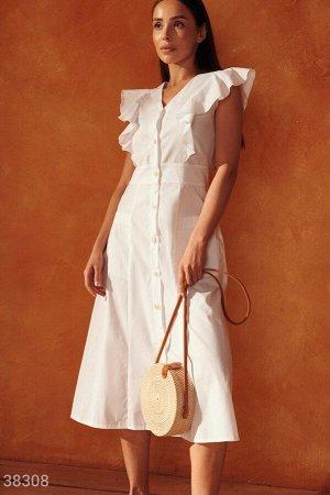 Белое платье из коттона