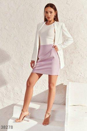 Короткая яркая юбка с карманами