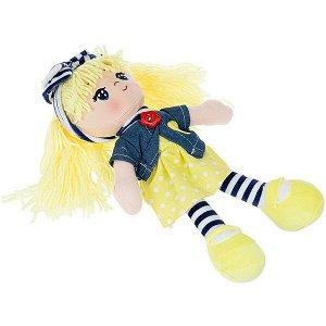 Мягкая кукла Oly, размер 26 см, РАС, Вика-жёлтые волосы