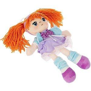 Мягкая кукла Oly, размер 26 см, РАС, Ника- оранжевые волосы