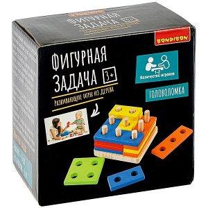 Развивающие игры из дерева Bondibon Головоломка «ФИГУРНАЯ ЗАДАЧА», BOX