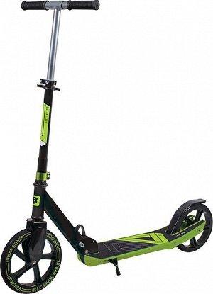 Самокат детский BONDIBON DELTA сталь+пластик, складной, колеса PU 230*200мм, зеленый