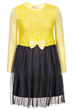 Платье трикотажное,низ из сетки,отделка-гипюр
