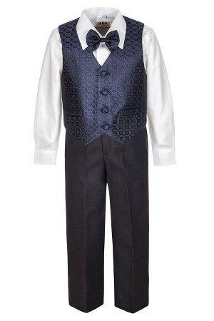 Костюм для мальчика: жилет, брюки, рубашка и бабочка