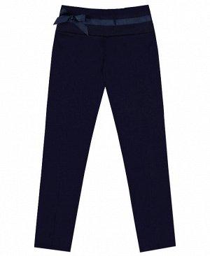 Синие школьные брюки для девочки Цвет: синий