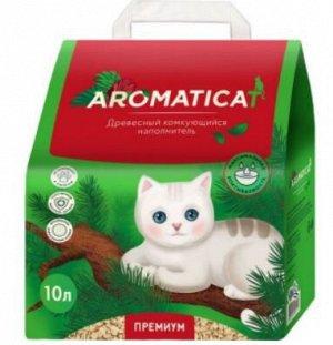 Наполнитель Aromaticat для кошачьего туалета древесный комкующийся 10л