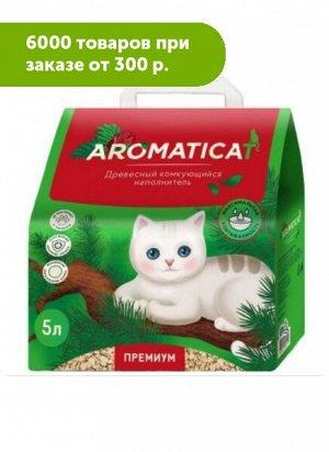 Наполнитель Aromaticat для кошачьего туалета древесный комкующийся 5л