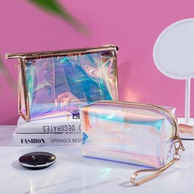Зеркало для нанесения макияжа + увеличительное — Косметички — Косметички и бьюти-кейсы
