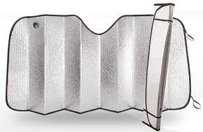 Экран солнцезащитный на лобовое стекло, светоотражающий, двухсторонний, BUBLE полиэтилен, плотность 200 г/м?, разм. 150x70, 1/50