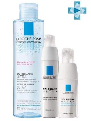 Ля Рош Позе Набор Крем Ultra 40 мл + Ultra Eyes 20 мл + Micellar water 200 мл (La Roche-Posay, Toleriane)