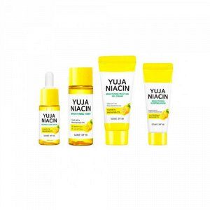 Some By Mi Yuja Niacin 30 Days Brightening Starter Kit Набор миниатюр для осветления кожи с экстрактом (4 предмета)