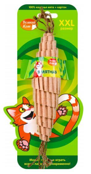Игрушка для кошек мятный РОГАЛИК из картона 25см