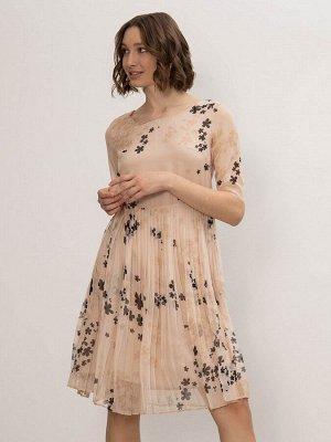 Шифоновое платье с плиссировкой PL1207/cation