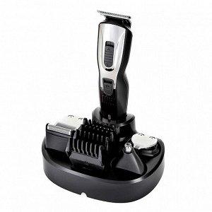 Набор 5 в 1 для стрижки и бритья DELTA LUX DE-4201A аккумуляторный, черный