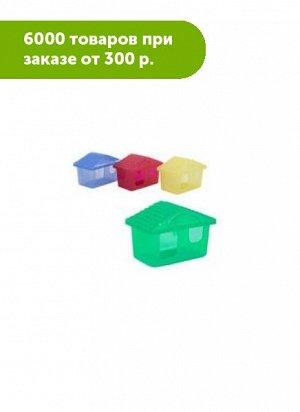 Домик для грызунов Зоо-М малый 11*8*7см прозрачный
