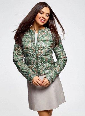 Куртка стеганая с принтом