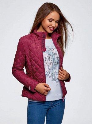 Куртка стеганая с воротником-стойкой