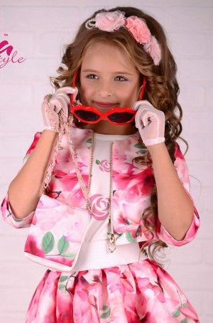 Платье дев. третьего слоя Джуди розовый лотос