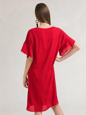 Платье с рюшами на рукавах PL975/orabella