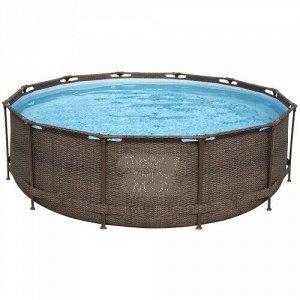 Каркасный бассейн Ротанг 56709 (366х100 см) с картриджным фильтром и лестницей
