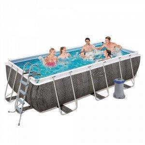 Каркасный бассейн 56996 (488х244х122 см) с картриджным фильтром, лестницей и защитным тентом