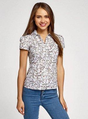 Блузка принтованная из легкой ткани