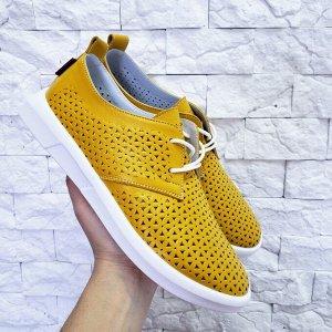 Мокасины FLOWER желтый-1235