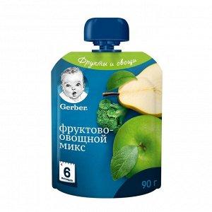 ГЕРБЕР Пюре Фруктово-Овощной Микс 90г