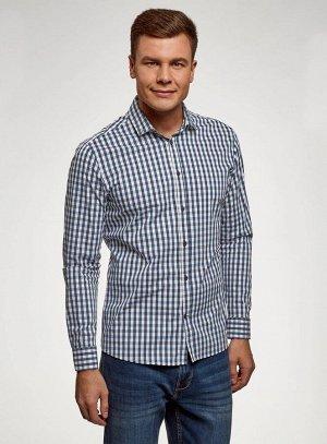 Рубашка в клетку с длинным рукавом