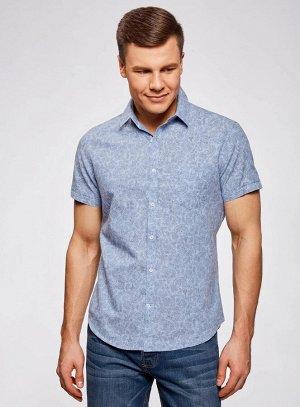 Рубашка с коротким рукавом принтованная