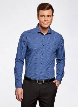 Рубашка принтованная с длинным рукавом