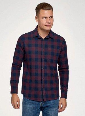 Рубашка хлопковая с длинным рукавом
