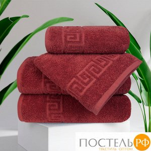 Набор 2 полотенца Tasmania (70х140 - 2 шт), винно-красный - 45002, 430 г/м2