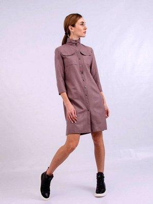 Платье пл409 серо-лиловое
