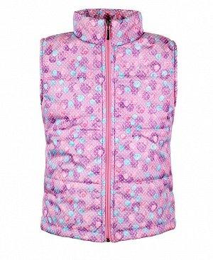 Розовый теплый жилет для девочки Цвет: лаванда