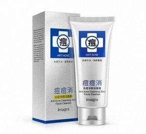 Гель-пенка для умывания против акне c алоэ и гамамелисом Images Anti Acne Cleansing Skin Facial Cleanser, 100г