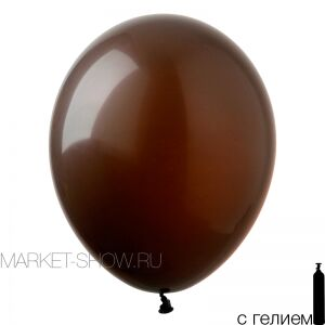Шар12'' Пастель шоколад/Chocolate (50 шт./уп.) /БК