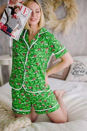 Женская пижама ЖП 060 (принт божья коровка)