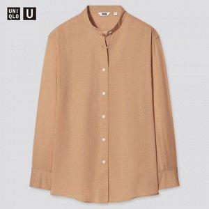 Женская рубашка, коричневый