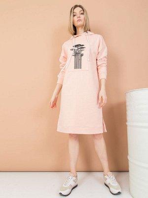 Платье из футера с капюшоном