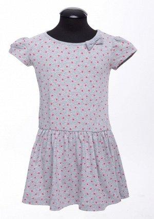 Batik Платье д/дев фуллайкра DS0035/25 р.134 серый меланж