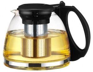 """Чайник """"ГОДЖИ"""" чёрный стеклянный 1300мл"""