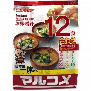 Мисо-суп быстрого приготовления Ассорти Красное, 12 пакетиков