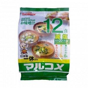 Мисо-суп быстрого приготовления Ассорти Зеленое (с низким содержанием соли),12 пакетиков