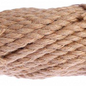 Канат джутовый кручёный  8 мм, локоть  (20 м)