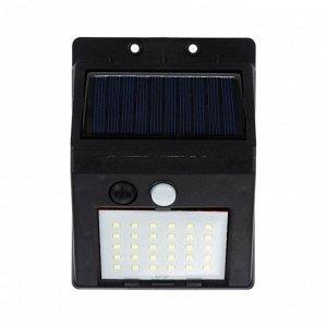 Светильник уличный с датчиком движения, выносная солн. панель, провод 2,5 м, 6 Вт, 30 LED