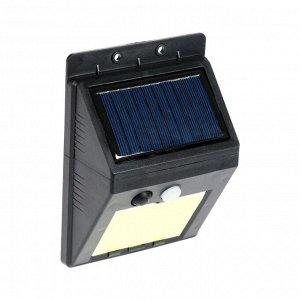Светильник уличный с датчиком движения, выносная солн. панель, провод 2,5 м, 8 Вт, COB LED